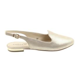 Žlutý Dámské zlaté boty Caprice lordsy 29400