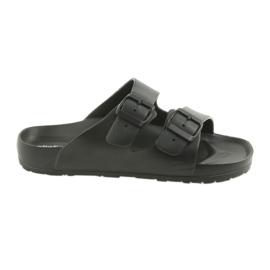 Černá Atletico profilované pánské černé pantofle