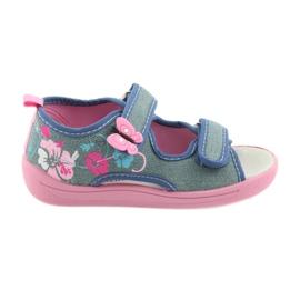 American Club Dětská obuv Pantofle Sandály Americká kožená vložka 37/19
