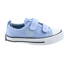 Tenisky na suchý zip American Club LH50 modré dětské boty
