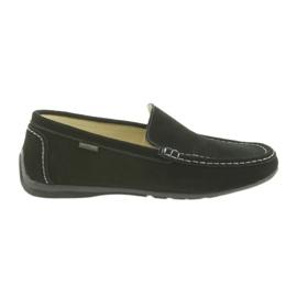 Loafers pánská kožená obuv American Club 01/2019 černá