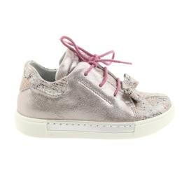 Ren But růžový Kožené boty Rýna 3303 perle růžové