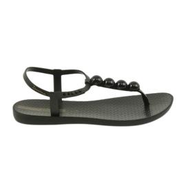 Černá Ipanema sandály dámské boty s pálkami s kuličkami 82517