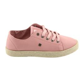 Růžový Ballerinas espadrilles dámské boty růžové Big star 274425