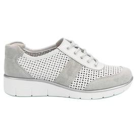 Filippo Kožené boty s otevřenou kůží bílá