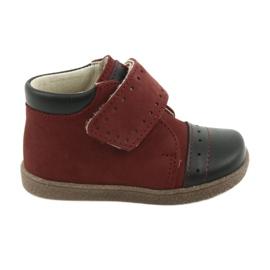 Ren But Dámské boty se suchým zipem Ren Ale 1535 vínové