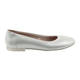 Šedá Balerína obuv pro ženy stříbrná Sergio Leone 607