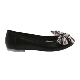 Černá Balerína dámská obuv s lukem Sergio Leone 605