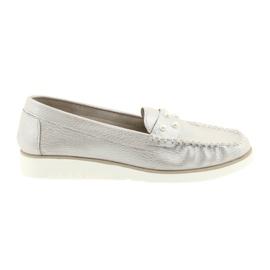 Sergio Leone Loafers dámské boty béžová perla