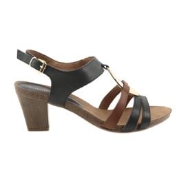 Caprice dámské sandály zlatý ovál