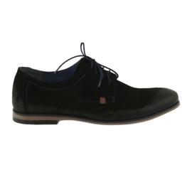 Černá Pánské semišové boty Nikopol 1709 černé