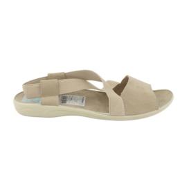 Hnědý Sandále pro ženy Adanex 17495 béžová