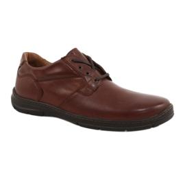 Hnědý Badura boty pánské pohodlí 3509 hnědé