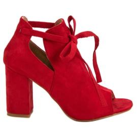 Vinceza červená Zabudované sandály na baru