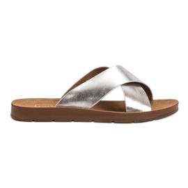 Filippo Stříbrné papuče se vzorkem šedá