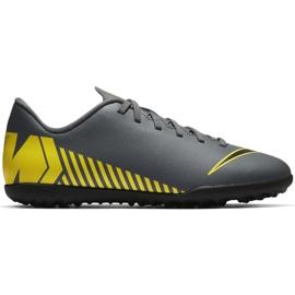 Nike Mercurial Vapor X 12 Club Tf Jr AH7355-070 Fotbalové boty šedá