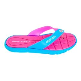 Růžový Pantofle Aqua-Speed Bali růžová-modrá 03 479