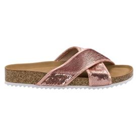 Kylie Růžové Pantofle S Flitry růžový