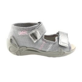 Šedá Dětská obuv Befado 342P002 stříbrná