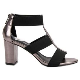 Módní sandály na UP Post VINCEZA šedá