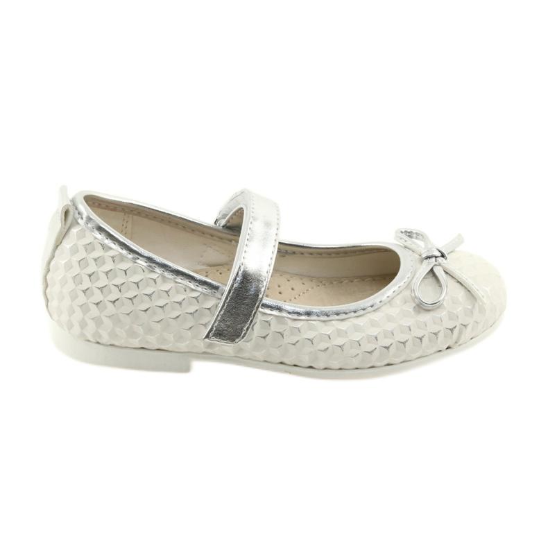 Balerínská obuv se suchým zipem American Club GC16 bílá šedá