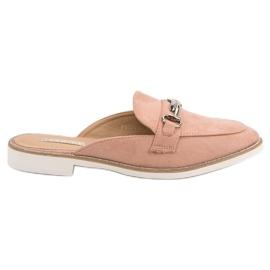 Růžový Elegantní dámské pantofle