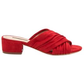 Corina červená Módní pantofle