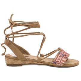 Corina hnědý Svázané sandály