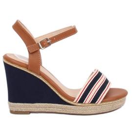 Sandály na klíně modré námořnictvo 9068 Blue