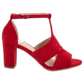 Vinceza červená Červené sandály