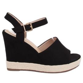 Černá Černé klínové boty FD-5M14 Black