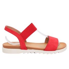 Dámské sandály červené 9001 Red červená