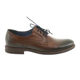 Hnědý Pánské pánské hnědé boty Nikopol 1712