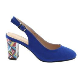 Modrý Sandály na post Sergio Leone 788 indigo mic