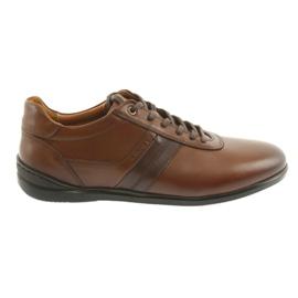 Hnědý Badura 3707 hnědá sportovní obuv