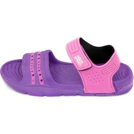Sandály Aqua-speed Noli fialová růžová Kids col