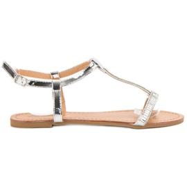 Abloom šedá Lakované ploché sandály