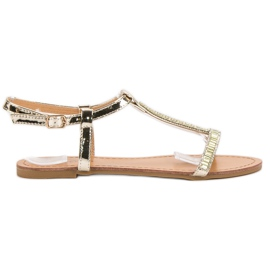 Abloom žlutý Lakované ploché sandály