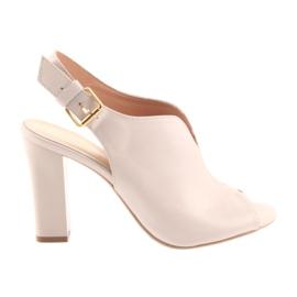 Sandály na postu Espinto 195 práškové růžové růžový