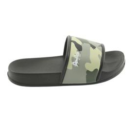Pantofle camo profilované American Club green