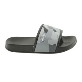 Pantofle camo profilované American Club šedé