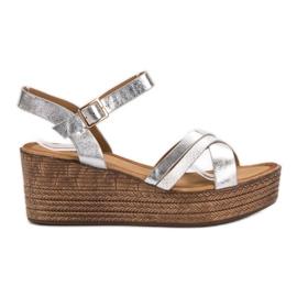 Seastar šedá Lehké sandály na klín