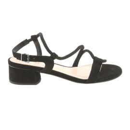 Černá Černé sandály vysoké podpatky Edeo 3386