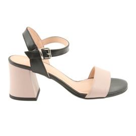 Dámské sandály Edeo 3339 prášek / černý