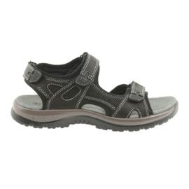 Černá DK sandály černé Velcro lehké EVA dno