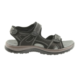 DK sandály černé Velcro lehké EVA dno černá