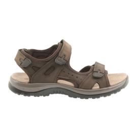 Hnědý Sandály DK Hnědé suché zipy EVA