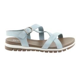 Big Star modrý Pohodlné sandály