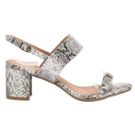 Ideal Shoes Módní dámské sandály šedá