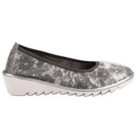 Filippo Světle šedá kožená obuv